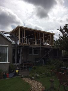 A Flat Roof Dormer Loft Conversion under construction in Bristol