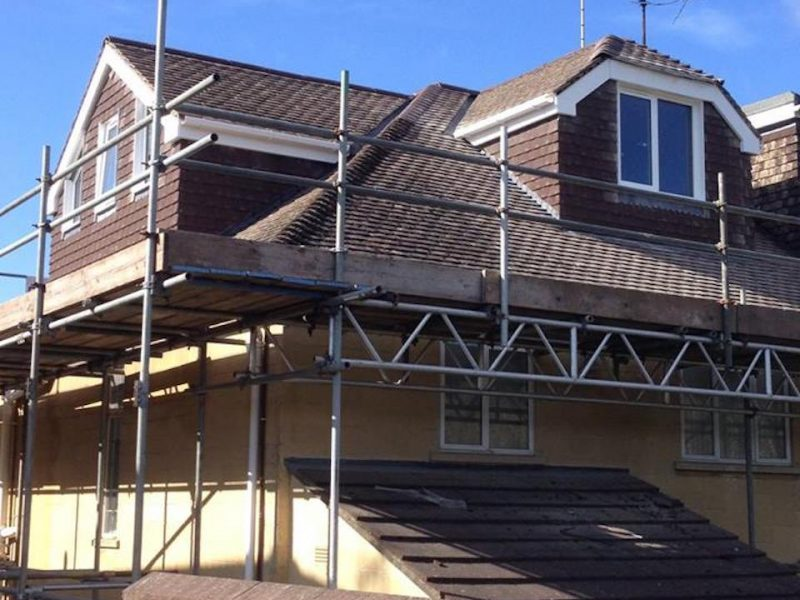 A large Brown pitched roof loft conversion in Bristol