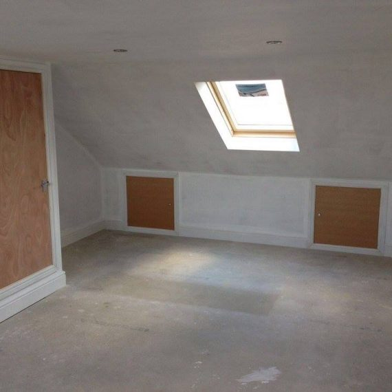 An empty loft conversion in Bristol