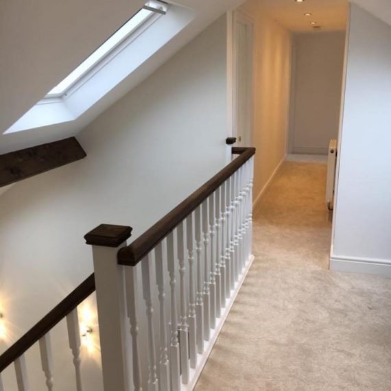 Hallway to a loft conversion