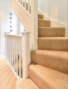 Modern stairs up to a new loft conversion