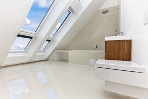 A sunlit modern bathroom loft conversion in Bristol