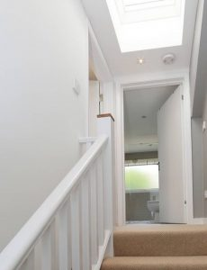 Stairs and Hallway leading up to a loft conversion