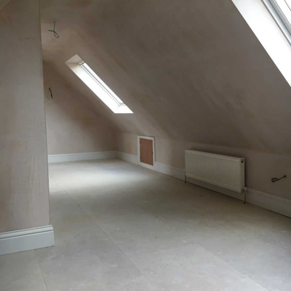 A Velux loft conversion in process